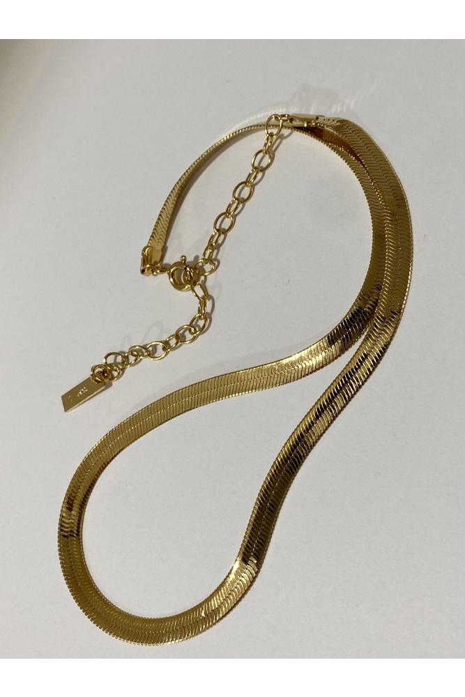 Gold Snake Necklace