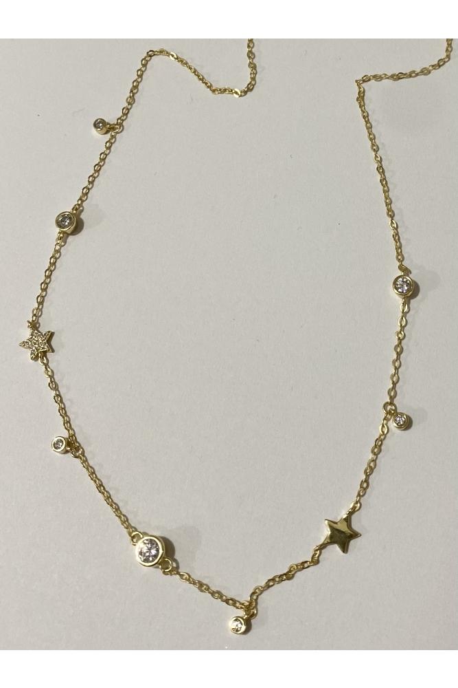 Zirconia Stars Necklace